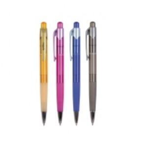 Guľôčkové pero Spoko, klikacie, 4 farby tela pera, náplň modrá, balenie 12 ks
