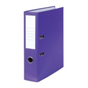 Pákový zakladač poloplastový, šírka chrbta 8 cm, fialový