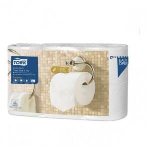 Tork extra jemný toaletný papier – konvenčný kotúč Premium so 4 vrstvami