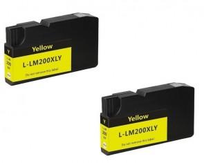 LEXMARK 100XL twinpack yellow